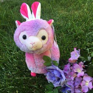 Mew Kawaii pink Bunny ear alpaca plush